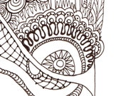 Monogram - K - Initial, Colour-Me-In Illuminated Letters, original art  drawings by melanie j cook