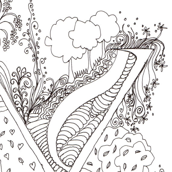 Monogram - Y - Initial, Colour-Me-In Illuminated Letters, original art  drawings by melanie j cook