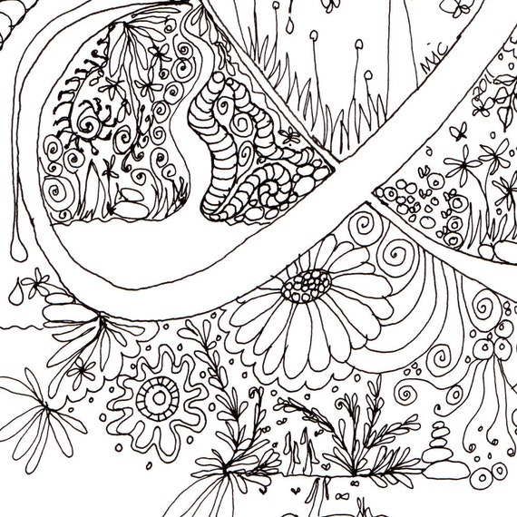 Ampersand Monogram, Initial, Colour-Me-In Illuminated Letters, Symbols - &, original art  drawings by melanie j cook