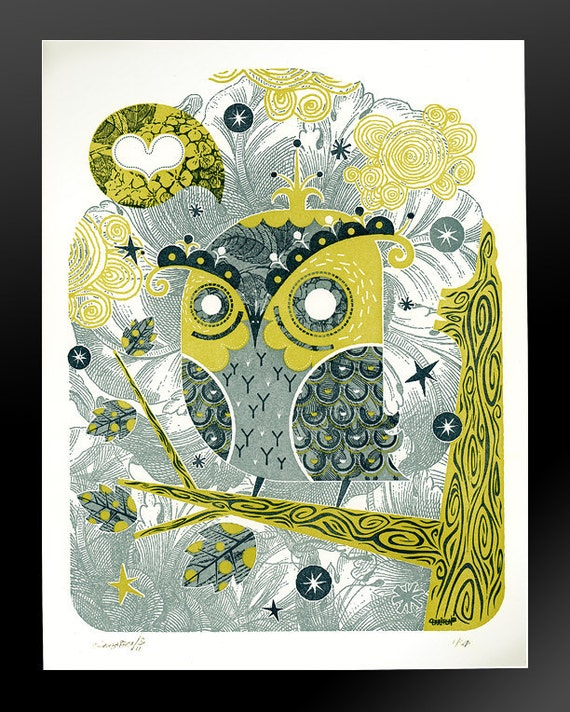 Enamored Owl / Letterpress Limited Edition