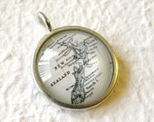 New Zealand Map Necklace - featuring Christchurch, Auckland, Wellington, and more - Custom Map Jewelry