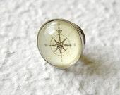 Antique Compass Men's Tie Tack Tie Lapel Pin