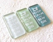 Keep Calm and Sew On Magnet Set - Sea Greens