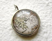 World Traveler Map Necklace - Greece