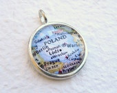 World Traveler Map Necklace Pendant - Poland