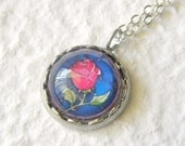 The Enchanted Rose Petite Disney Necklace - Inspired from Disney's Beauty and the Beast
