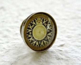 Antique Compass Men's Tie Tack - Choose your Compass