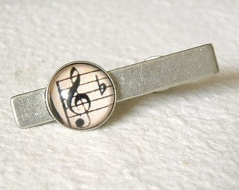 Music Note Tie clip THE ORIGINAL of this design - Great gift for Valentine's day father's day
