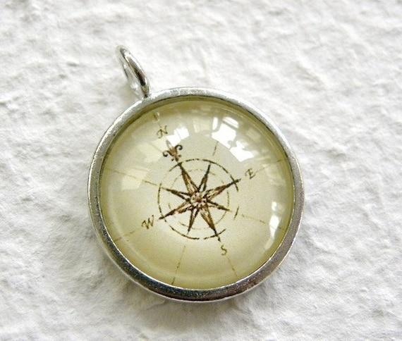 Antique Compass Pendant 3 OOPS SALE