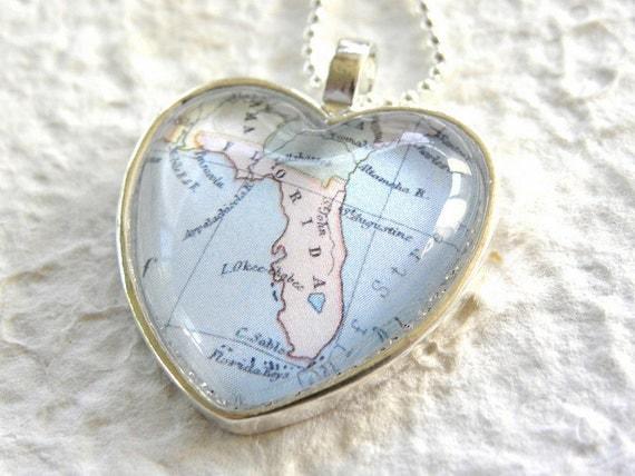 Florida Map Necklace