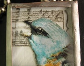 SINGING BLUEBIRD and BUTTON NECKLACE