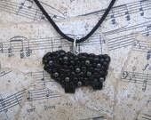 GLAM LAMB - Black Sheep With Swarovski Pearls - PENDANT or CHARM