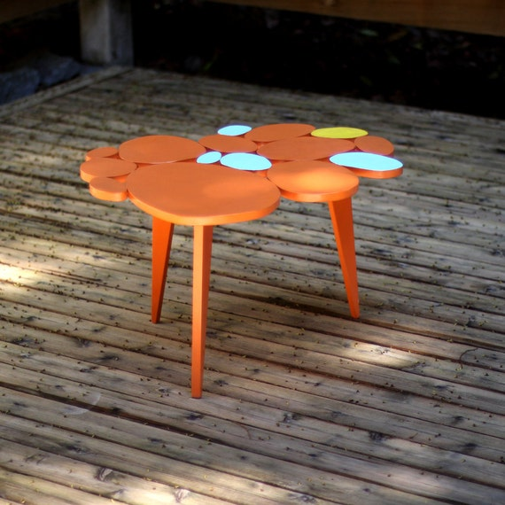 SALE Small Multi-colored Circles Coffee Table  IN STOCK Ready to Ship