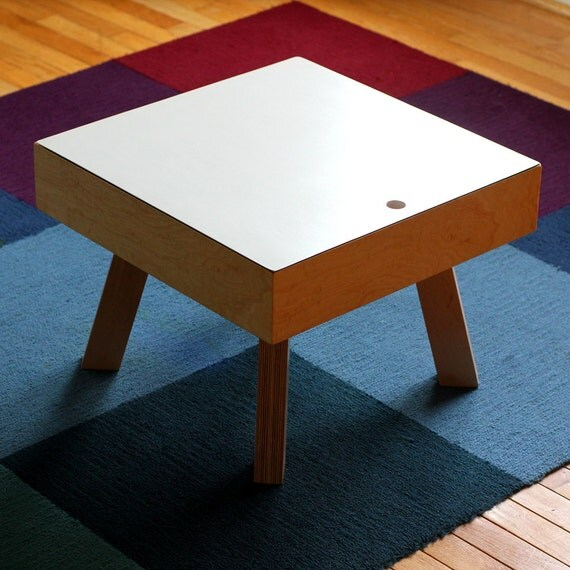 Ikea Coffee Table Cubby Holes: Modern Coffee Table With Storage Cubby SALE