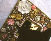 Elegant in Pink Vintage Jewelry Mosaic Mirror