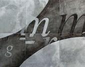 Gravity etched metal artwork