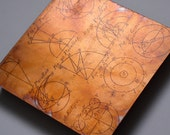 Science art Copper Art 6x6