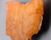 Copper Art Map of Ohio state