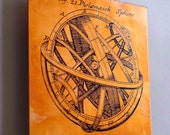 Copper art with science diagram, 4 inch