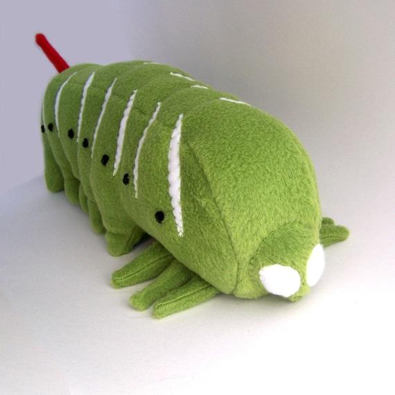 Timmy the Gigantic Tobacco Hornworm Caterpillar soft sculpture