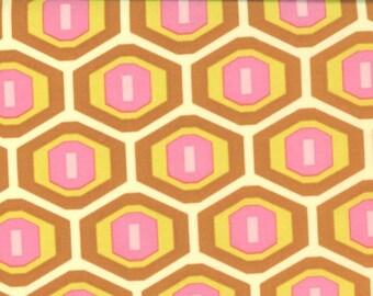 Amy Butler, Midwest Modern, Honeycomb, Rust, 1 Yard