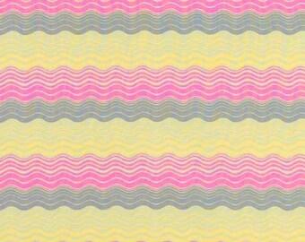 Amy Butler, Midwest Modern, Ripple Stripe, Grey, 1 Yard
