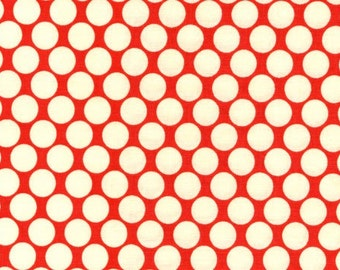 Amy Butler, Lotus,  Full Moon Polka Dots in Cherry, 1 Yard, Buy More and Save