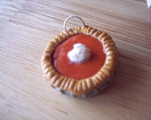 Pumpkin Pie Necklace \/ Charm YUM Miniature