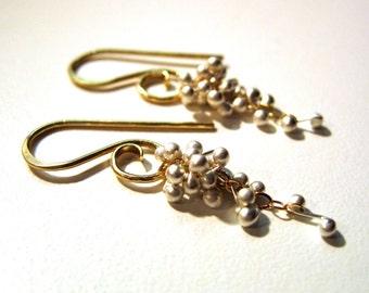 Small Wisteria Caviar Earrings -Choose your Finish