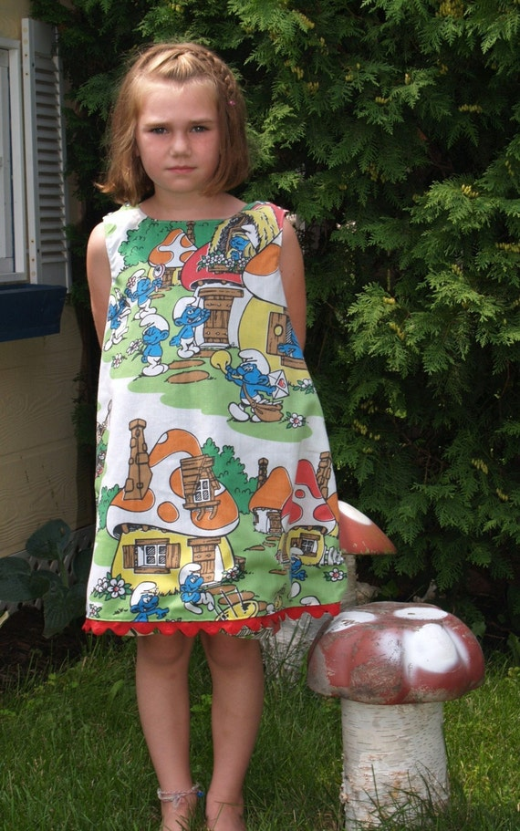 The Smurf Dress - Reversible - Girls Sizes 3 - 8 years