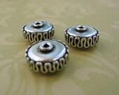 Bali Silver Rondelles