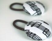 Ponytail Holder Set - Music