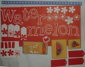 Watermelon Page Embellishments