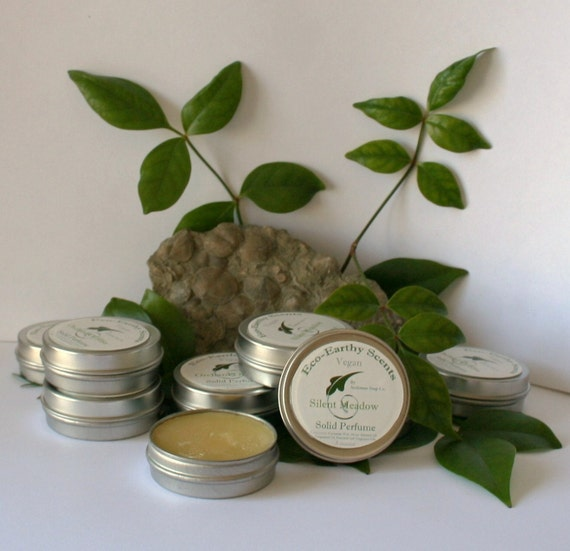 Eco-Earthy Scents Solid Perfume Silent Meadow (VEGAN Friendly)