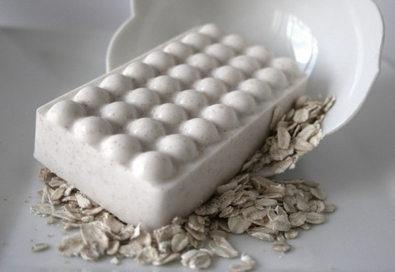 Square Crushed Oatmeal Massage Soap Bar (VEGAN Friendly)
