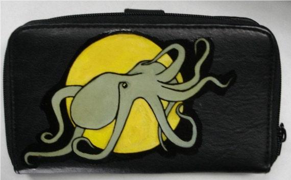 Full Moon Octopus Wallet \/ Purse