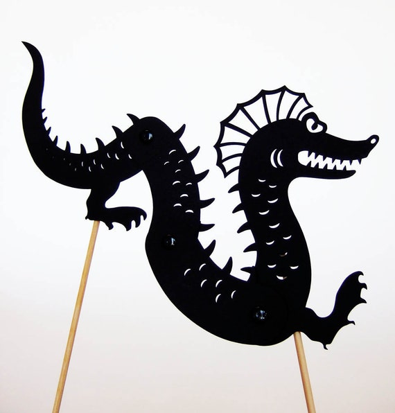 RESERVED for Anyur Seamonster Shadow Puppet