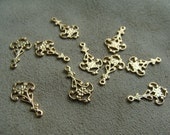 Brass Charms, Chandelier Style, 10 pieces, 18X10mm