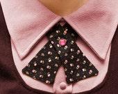 Womens Neck Tie - Black & Pink Floral - LAST ONE
