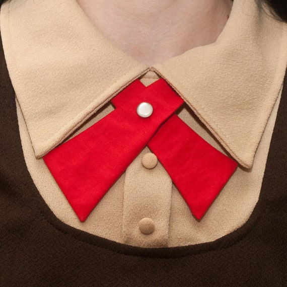SALE Lady Tie - Red - Womens Neck Tie