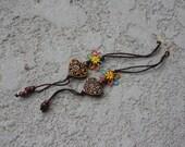 Clearance - Macrame tassel earrings