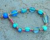 Macrame bead bracelet