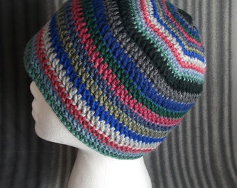 Crochet beanie mellow colors