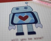 printable valentines- robot parade