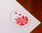 printable lotus stationery