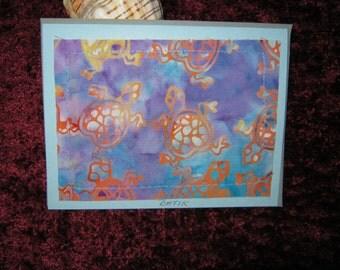 Turtle Batik Card