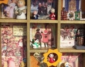 Christmas Village- Shadowbox - Assemblage - Mixed Media