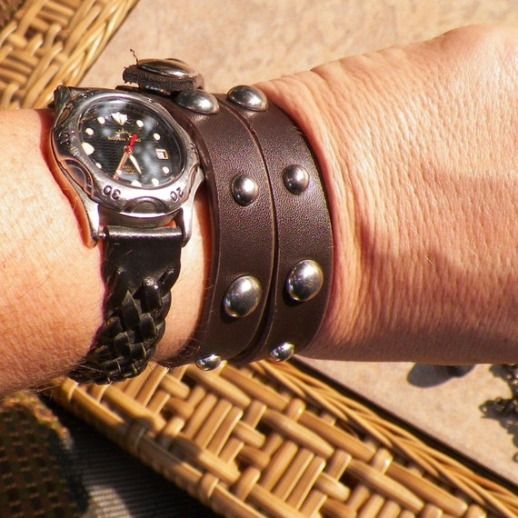Studded Non-Leather - Cuff