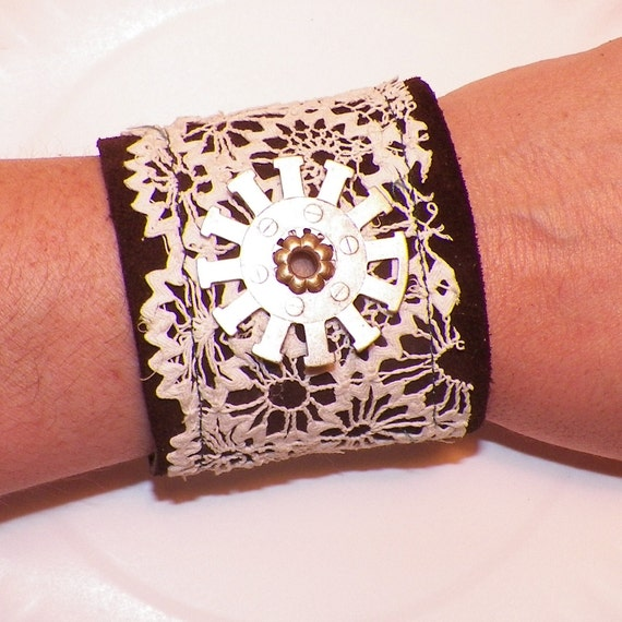 Leather and Lace- Leather - Cuff