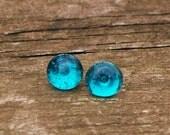 Recycled Mason Jar Post Earring/something blue/Bridesmaid gift/Stud Earrings/Blue Mason Jar/Handmade/Recycled Glass Jewelry/Eco Gift